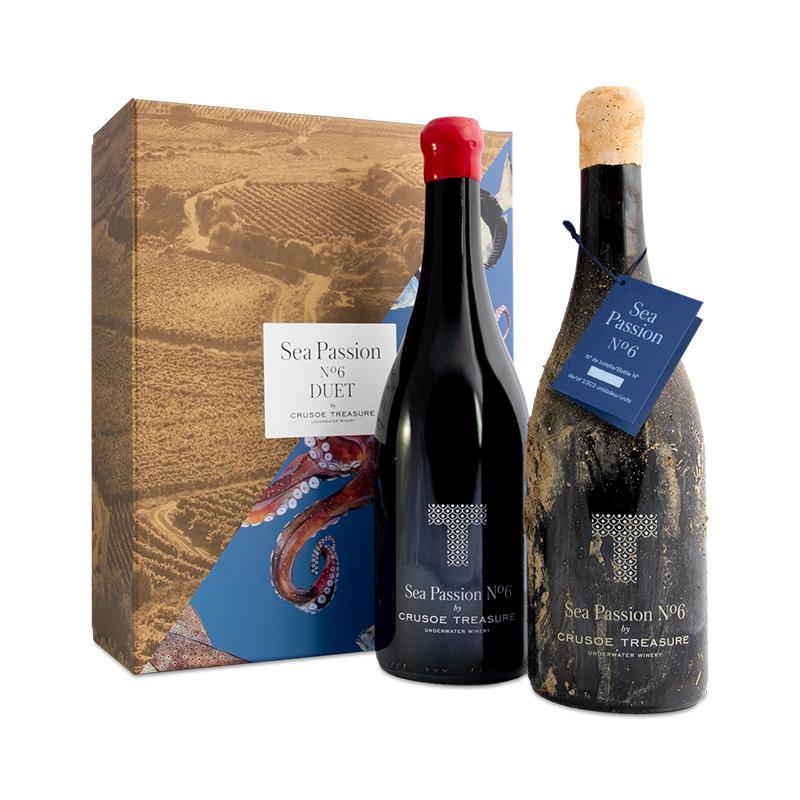 Pack Duet vinos submarinos Bodega Crusoe Treasure