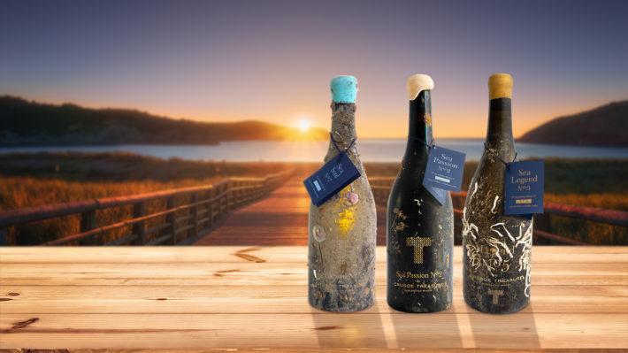 Nueva colección vinos submarinos Bodega Crusoe Treasure